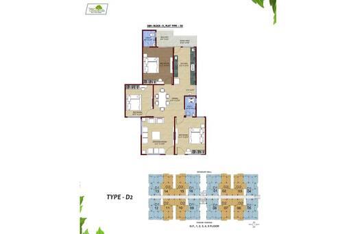 3 BHK Flat for sale in Sagar Green Hills, Kolar Road